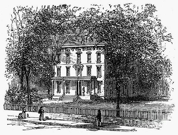 Newark: Mansion, 1876 Print by Granger