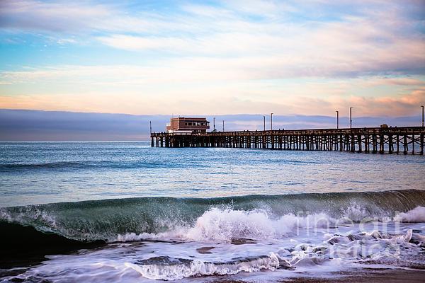 Newport Beach Ca Pier At Sunrise Print by Paul Velgos