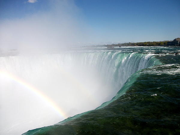 Niagara Falls Rainbow Please Do Not Jump For Gold   Print by Danielle  Parent