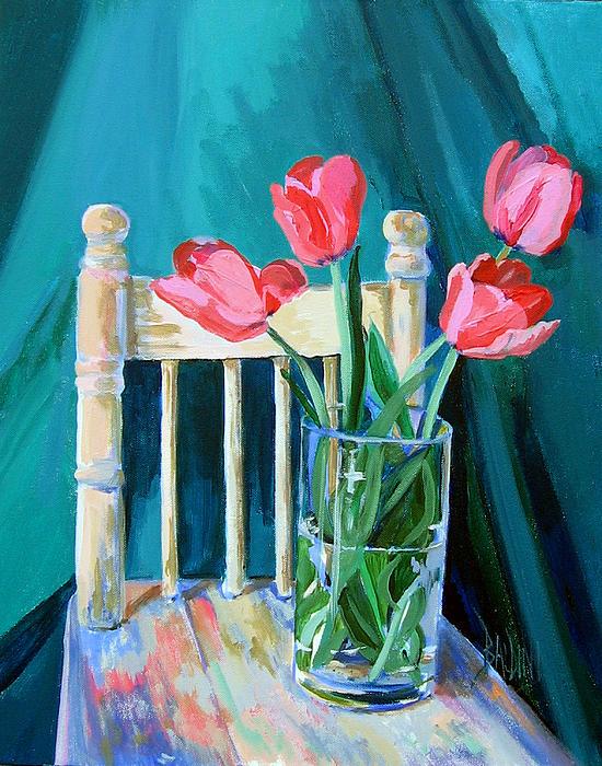 Niagara Tulips Print by J R Baldini
