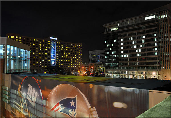 Night Before Super Bowl Xlvi Print by Brittany H