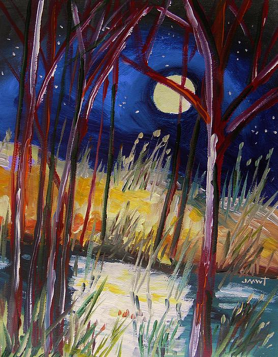 Night Dance Print by John  Williams