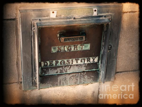 Night Deposit Print by Angela Wright