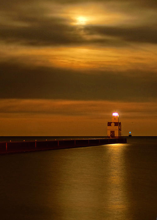Night Lights of Kewaunee Photograph