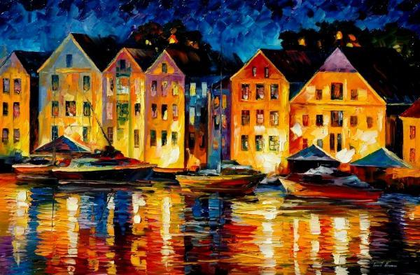 Night Resting Original Oil Painting  Print by Leonid Afremov