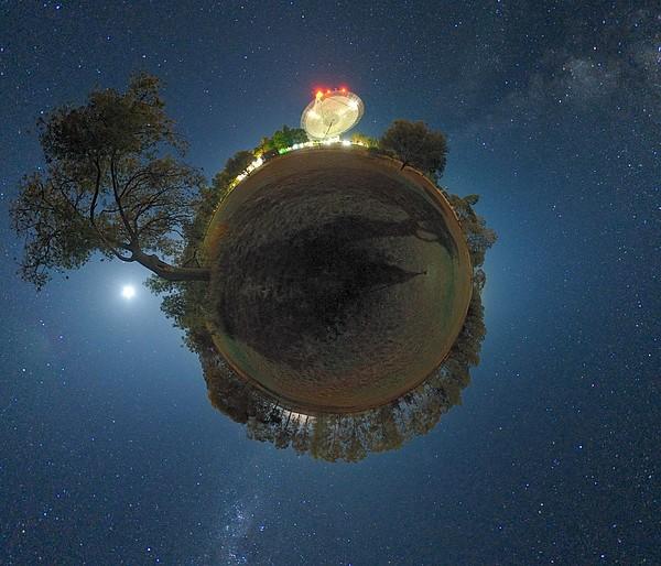 Night Sky Over Parkes Observatory Print by Alex Cherney, Terrastro.com