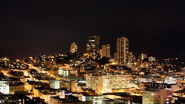 Night View Of San Francisco Print by Luiz Felipe Castro