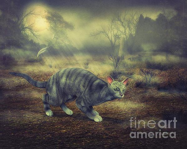 Night Walk Print by Jutta Maria Pusl