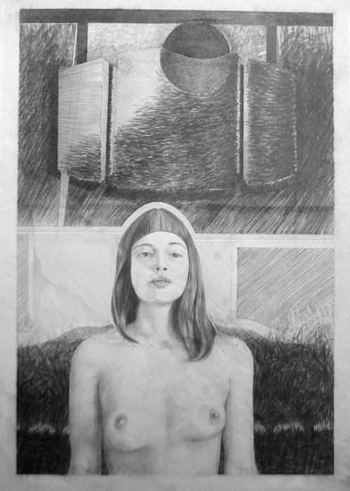 night walking nude tom thomas Night walking Nude Drawing   Night walking Nude Fine Art Print   Tom Thomas