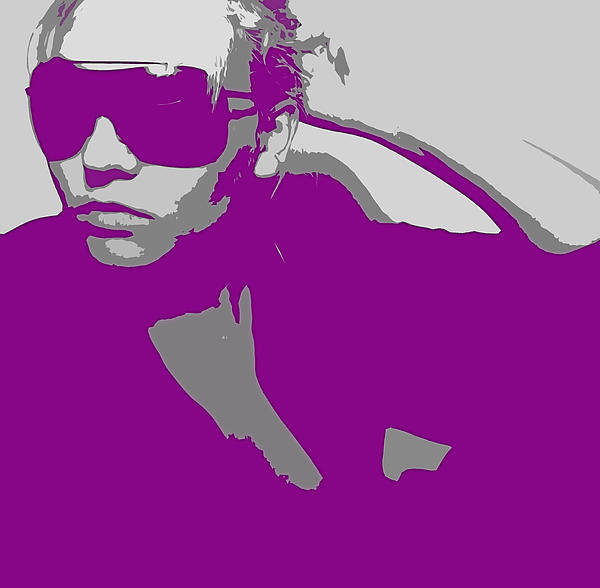 Niki In Glasses Print by Naxart Studio