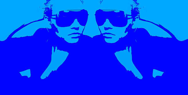 Niki Mirror Blue Print by Naxart Studio