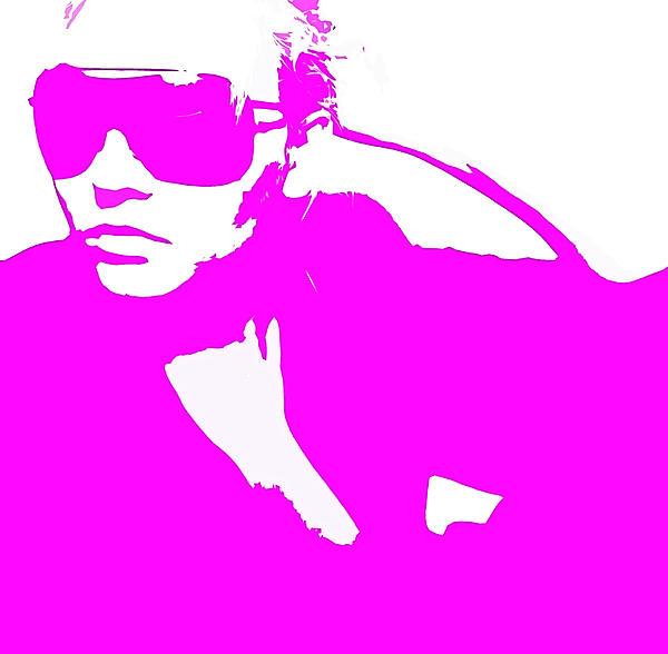 Niki Pink Print by Naxart Studio