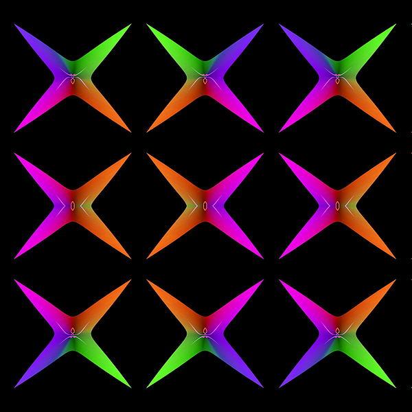 Visual Artist  Frank Bonilla - Nine Spider Stars