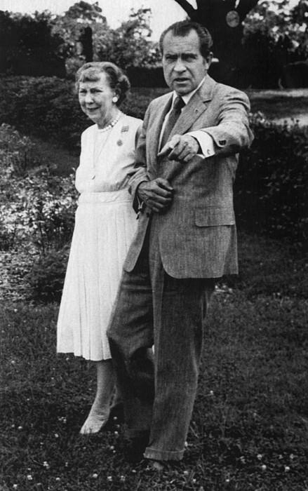 Nixon Presidency.  Former First Lady Print by Everett