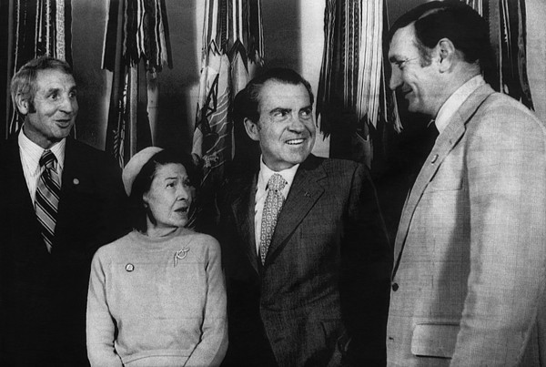 Nixon Presidency. From Left Former New Print by Everett
