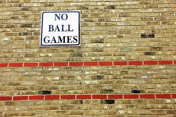 No Ball Games Print by Richard Newstead