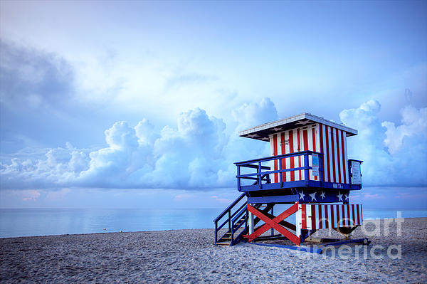 No Lifeguard On Duty Print by Martin Williams