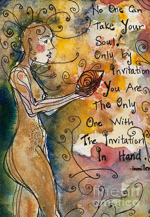 No One Can Take Your Soul Print by Ilisa  Millermoon