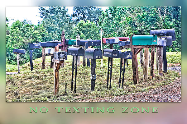 No Texting Zone Print by Stephen Warren