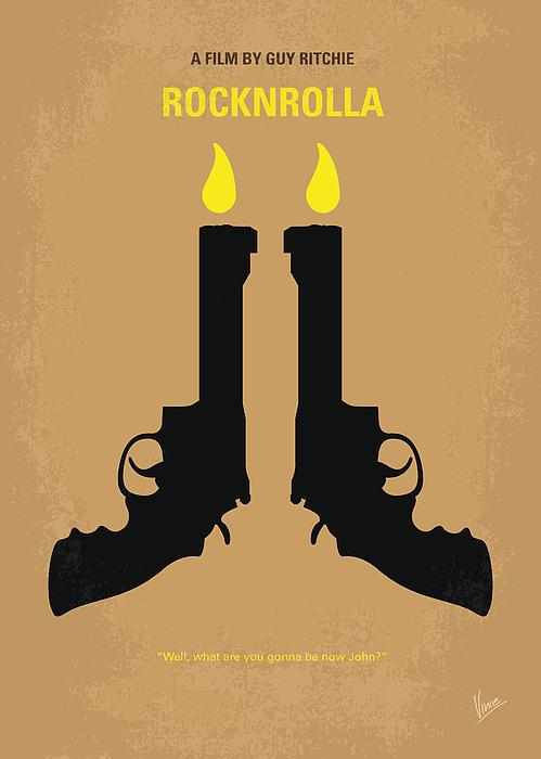 No071 My Rocknrolla Minimal Movie Poster Print by Chungkong Art