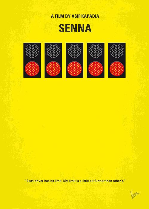 No075 My Senna Minimal Movie Poster Print by Chungkong Art