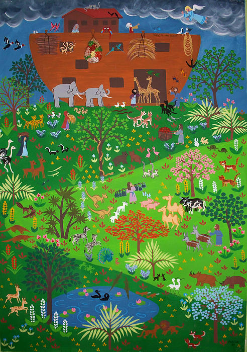 Noahs Ark Print by Isolda Nouel