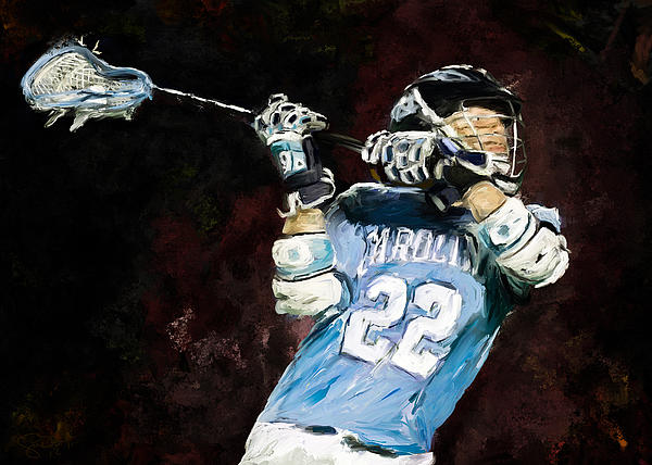 North Carolina Lacrosse Print by Scott Melby