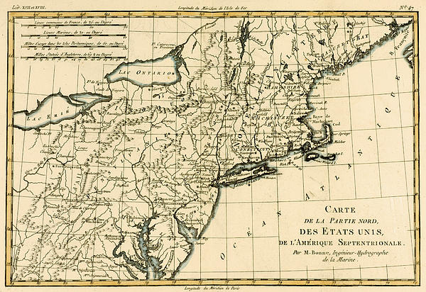 Northeast Coast Of America Print by Guillaume Raynal
