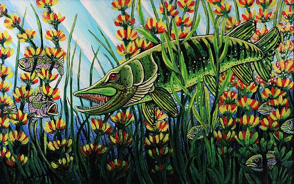 Northern Pike Print by Bob Crawford