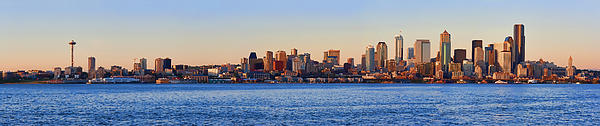 Northwest Jewel - Seattle Skyline Cityscape Print by James Heckt