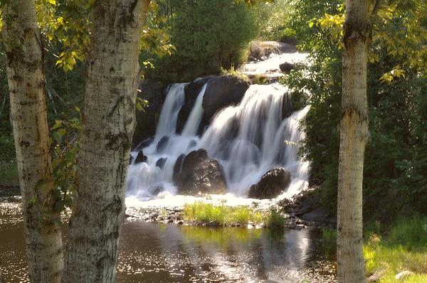 Northwoods Falls Print by Marty Koch