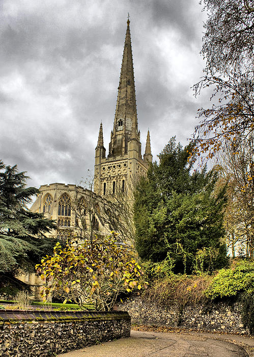 Norwich Cathedral England Print by Darren Burroughs