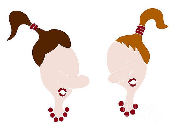 Nosy Girls Print by Frank Tschakert