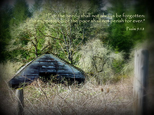 Not Forgotten Barn Psalm Print by Cindy Wright