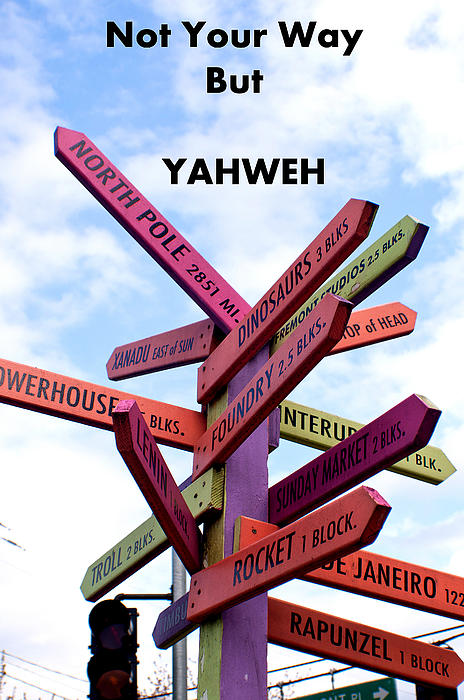 Roger Reeves  and Terrie Heslop - Not Your Way But YAHWEH