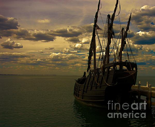 Notorious The Pirate Ship Print by Blair Stuart