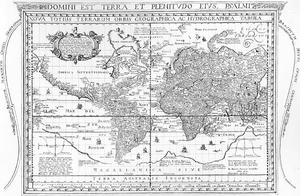 Nova Totius Terrarum Orbis Geographica Ac Hydrographica Tabula Print by Dutch School