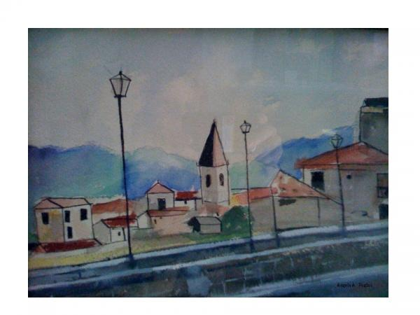 Novara Revisited Print by Angela Puglisi