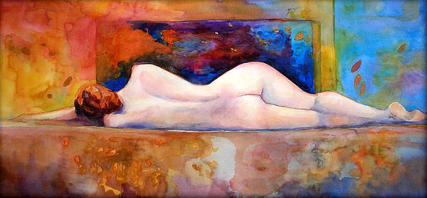Nude Between Two Worlds Painting  - Nude Between Two Worlds Fine Art Print