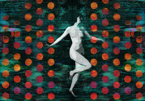 Nude Dance Painting - Nude Dance Fine Art Print - Digital Crafts
