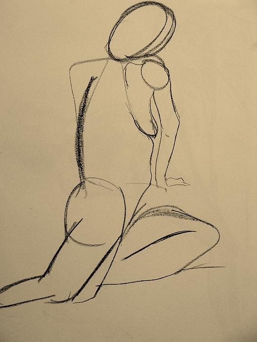Nude Drawing 2 Print by Kathleen Fitzpatrick