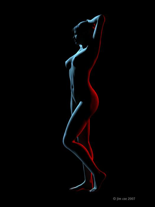 Nude Edge Light 1 Digital Art - Nude Edge Light 1 Fine Art Print - Jim Coe