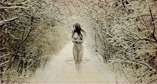 nude female in snow vintage john carnessali Brunette With Bubble Butt In The Snow. nude in winter, no tan lines, ...