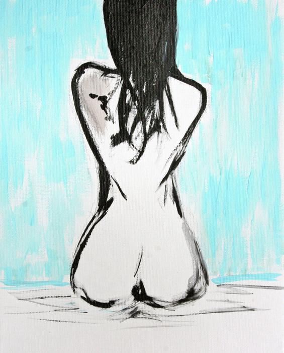 Nude Female Print by Julie Lueders