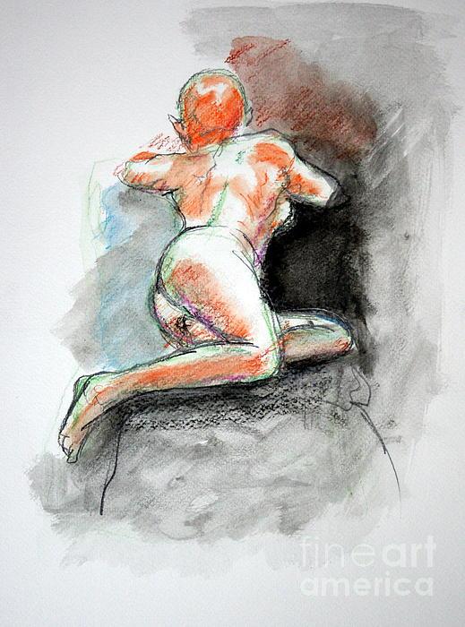 Julie Lueders  - Nude in watercolor 3