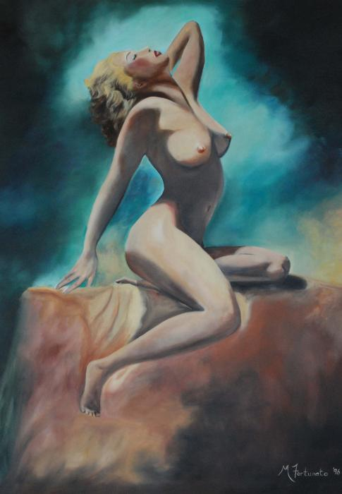 Nude Print by Margaret Fortunato