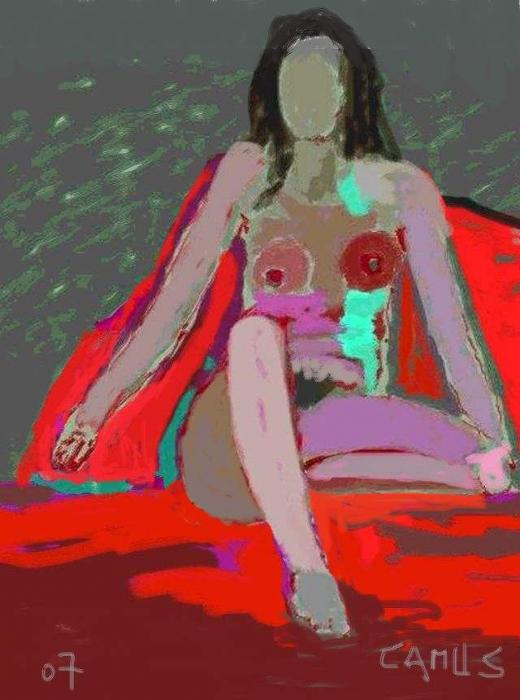 Nude Model 1 Painting  - Nude Model 1 Fine Art Print