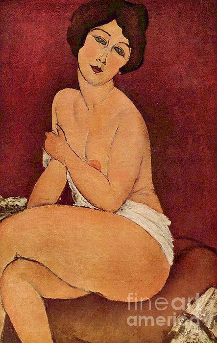 Nude On Divan Print by Pg Reproductions