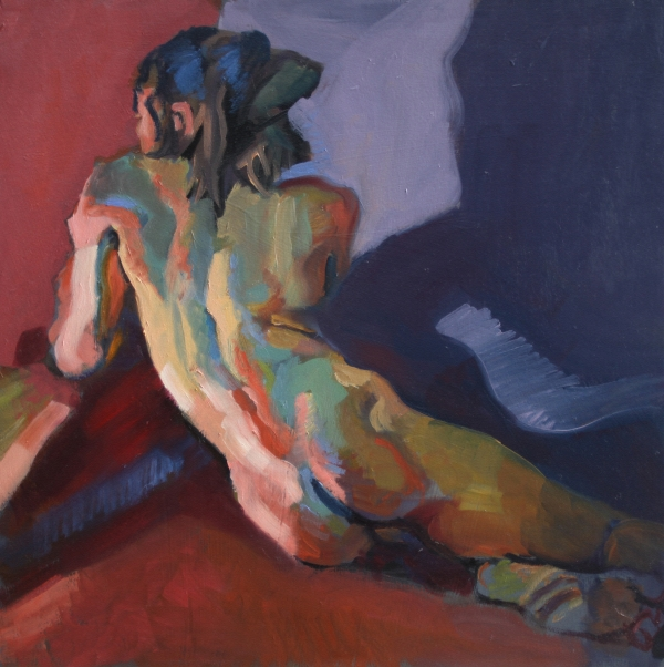 Nude Portrait Of D Painting  - Nude Portrait Of D Fine Art Print