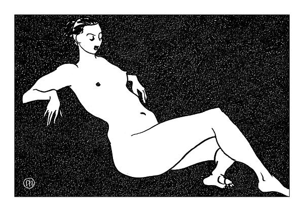 Nude Sketch 70 Print by Leonid Petrushin